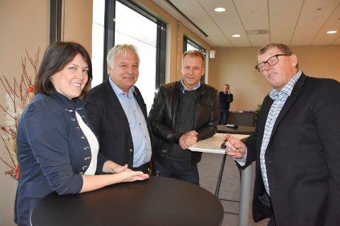 Dropper Øsfold-samarbeid: Ordførerkandidatene Kathrine Hestø Hansen (Ap), Olav Breivik (H), Saxe Frøshaug (Sp) og David Koht-Norbye, styremedlem i Visit Indre Østfold er enige om  turistsatsing nordover og mot Viken.