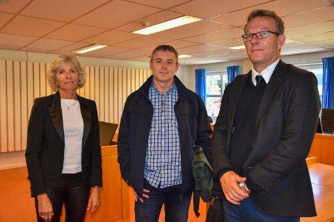 Advokattung: Askim kommune var representert med Erna Larsen KS-advokat, prosjektleder Leif Olesen i Askim kommune og KS-advokat Øyvind Renslo.