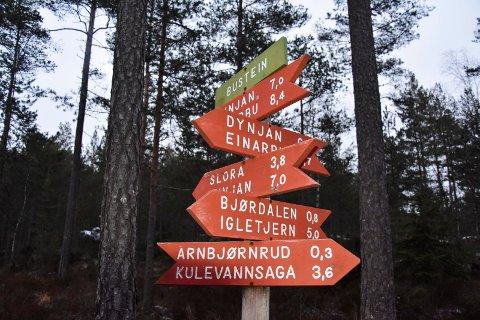 Populært turområde: Trømborgfjella, i Indre Østfold kommune, Marker og Rakkestad.