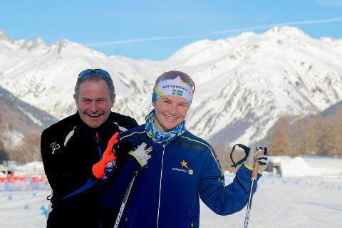 DATTEREN KLAR: Pappa Kjell-Erik Kristiansen er vraket som speaker i Tour de Ski. Nå er han glad datteren Moa Molander Kristiansen får sjansen for Sverige.