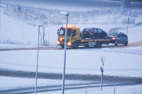 Sist onsdag var det mange trafikanter i Indre Østfold som slet på snøføret. Foto: Per Uno Blørstad