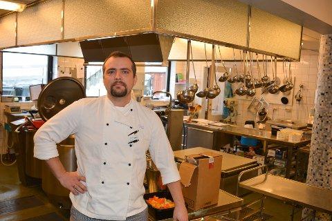 NY SJEF: Sondre Haslerud Stjern er ansatt som ny kjøkkensjef ved Edwin Ruuds hospital.