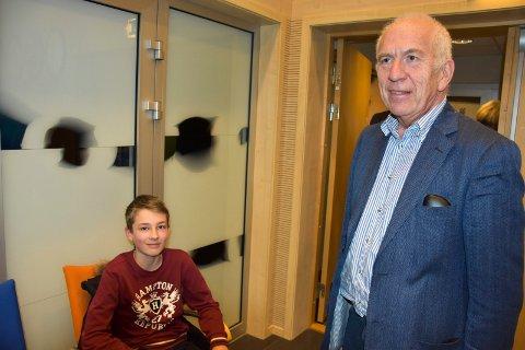 Møtte læreren: I bystyret møtte Adrian også sin tidligere lærer, Hans Georg Øverby (H).