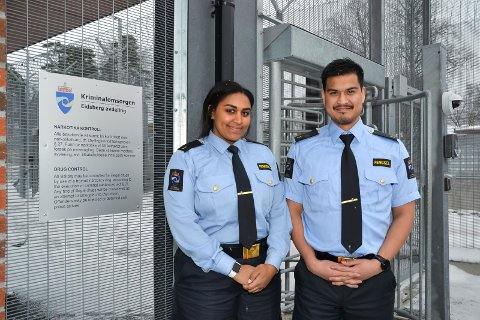 Fengselsaspiranter: Julie Listrøm Pedersen og Tor-Erik Bergum.