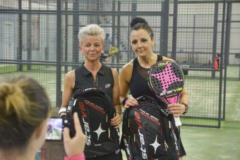 TAPTE: Lene Stubberud (f.v.) og Irena Ognjenovic tapte i finalen. Her har de fått premier.