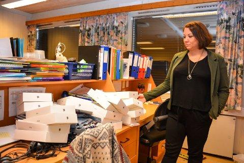 Fortvilet: Rektor Laila Studsrud ved Trømborg skole var lei seg etter innbruddet i romjulen.
