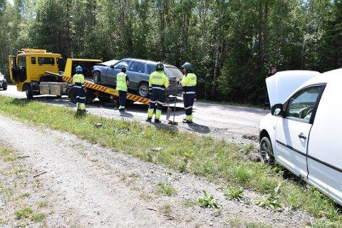 Trafikkulykke på Durud på fylkesvei 155 utenfor Ytre Enebakk.