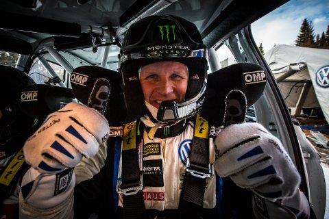 GLEDER SEG: Petter Solberg skal kjøre en Polo GTI R5-bil under Rally Spania i slutten av oktober. Spydeberg-mannen kan nesten ikke vente på rallycomebacket!