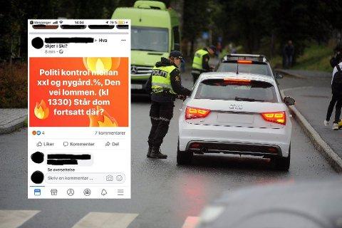 REAGERER: Politiet ser ikke med blide øyne på at trafikkontroller varsles på Facebook. Det gjør heller ikke gruppens administrator. Personen som delte dette innlegget, har blitt blokkert