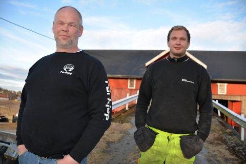 Tore Martin og Martin Løken har ventet på svar om hva som skal skje med jordet deres i 11 år.