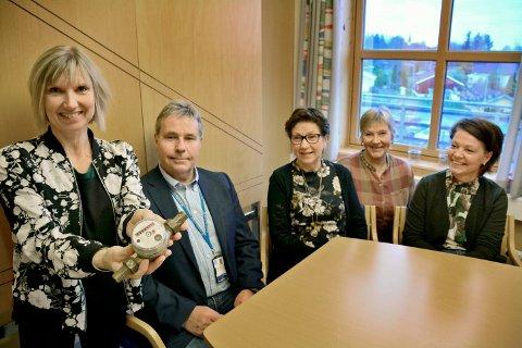 Fra venstre: Charlotte Andresen, Hans Petter Vammeli, Wenche Lysaker, Ruth Johansen og Siw Foss Grefslie