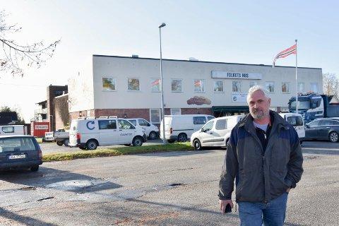 Ny bydel: Daglig leder Petter Kopperud i KM Eiendom as, har planen om en ny bydel ved Folkets Hus klar.