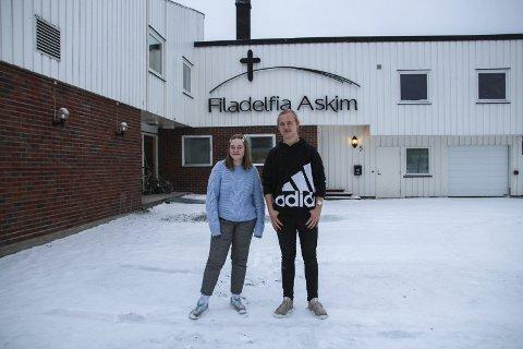 REAGERTE PÅ FILMEN: Jannicke Myre (15) og Andreas Østby (18) går i Filadelfia, og synes filmen «Disco» framstilte kristne som ekstreme og gammeldagse.