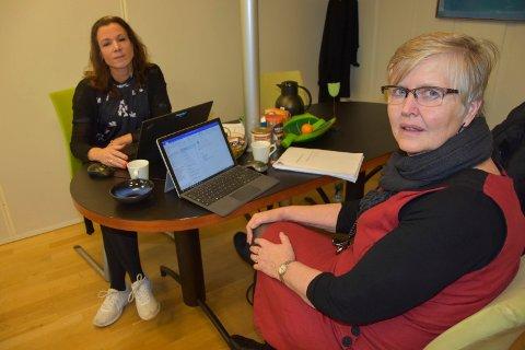 Styring: Økonomisjef Marit Berven Wilson og rådmann Synnøve Rambek har styring. Nå la de frem et budsjett med et overskudd på 28 millioner kroner for 2018. – Godt å ha med seg når vi skal inn i en ny kommune, kommenterte rådmannen.