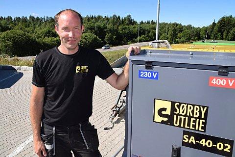 Flytteplaner: Daglig leder Lars Sørby i Spydeberg-firmaet Sørby Utleie as, bekrefter at firmaet har planer om millioninvestering og flytteplaner til Holtskogen næringspark. Avtalen skal signeres før sommerferien.