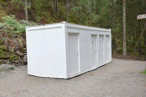 Askims dyreste: Dette toalettet har kostet kommunen 600.000 kroner å sette opp. Men det er avløpet som har kostet penger.