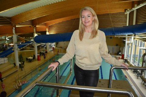 LEDER: Christine Aannerud er daglig leder på Østfoldbadet.
