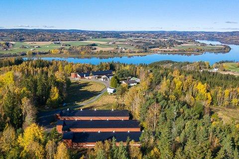FLOTT: Gården i Køyaveien ligger naturskjønt til ved Glomma.