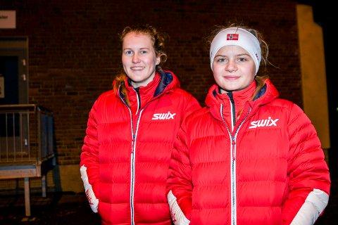NEDTUR: Mariell Gjendahl (t.v.) og Josefine Løken hadde gledet seg i flere måneder til å få delta i senior-NM i kombinert. Slik ble det likevel ikke.