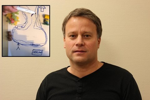 VIDEO GIKK VIRALT: Lars-Erik Berge har fått mye respons for sin video om skoledebatten i Indre Østfold.