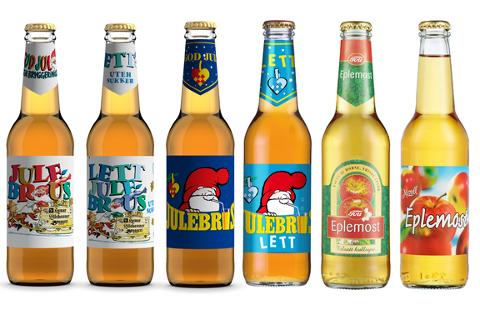 Dette er de aktuelle produktene som Ringnes nå tilbakekaller. Flaskene skal leveres tilbake der du kjøpte produktet.