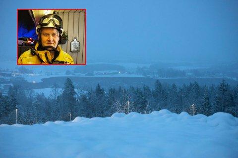 LOKALT MANNSKAP: Arnulf Hansen er også innsatsleder for Indre Østfold Brann og redning, men det er Røde Kors som har brakt ham til jordraset på Gjerdrum.