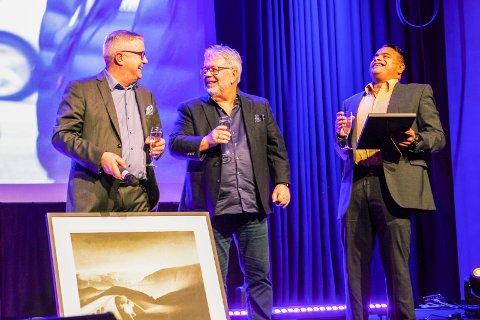 Glade herrer: Jobzone Østfold ble kåret til Årets kontor i kjeden under treffet på Lillehammer i helgen. Fra venstre: Per Kristian Johansen, Tore Widlund og Eldin Franco David.