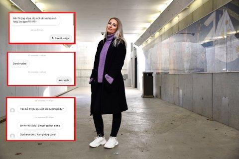 MELDINGER: Hanne Martinsen ler av meldingene hun får, men ber likevel folk skjerpe seg.