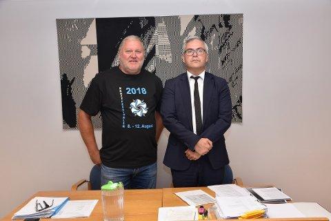 SNART I RETTEN: Tommy Leret og advokaten hans, Pan Farmakis, må snart møte i Heggen og Frøland tingrett igjen. Arkivfoto