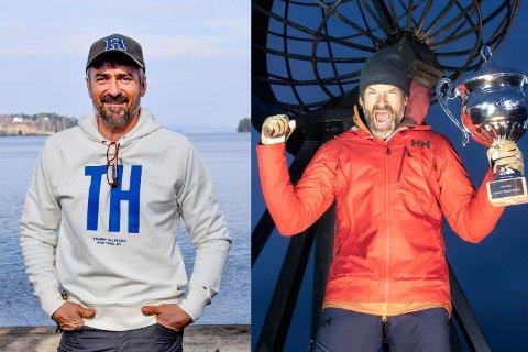"""– Bli med på """"59 grader nord"""", sier Tor Harald Rørvik (54). Han vil ha markingene med ut på tur. – En kjempegod idé, synes Norges tøffeste kjendis, Jon Almaas (52)."""