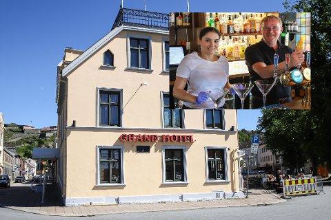 ÅPNER DØRENE: Bahareh Letnes og Per Sandberg gleder seg til hotellet ved jernbanen endelig kan ta imot overnattingsgjester.