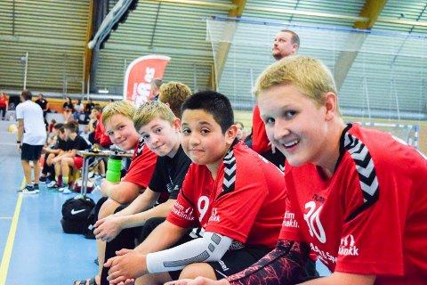 IKKE I ÅR: Smaalenene Cup i august er avlyst. Her fra fjorårets cup med Sebastian Aarsheim (13), Thobias Fjeldheim (13), Tobias Andrade (13) og Christian Bjørkevold (14).
