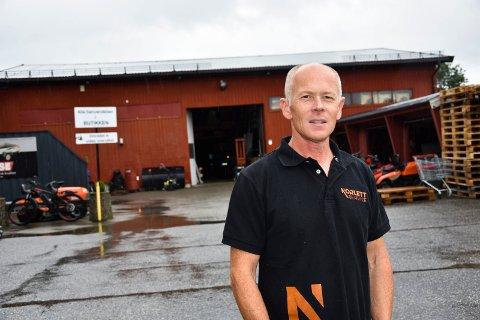 Utvider: Fredrik Haugen, daglig leder og eier av Norlett Service as, utvider i Hurrahølet.