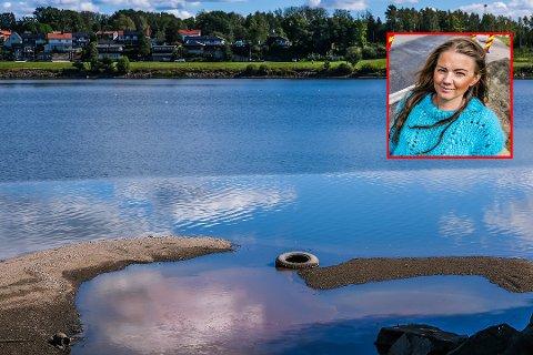 SKRIFTLIG SPØRSMÅL: Cecilie Agnalt (Ap) i Viken fylkeskommune har stilt fylkestinget spørsmål om hvilke konsekvenser den lave vannstanden i Glomma har for det biologiske mangfoldet.