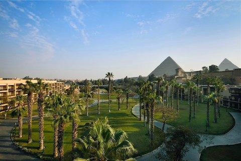 Kairo, Egypt  20210112.  Marriott Mena House er hotellet der håndballgutta skal bo under håndball-VM 2021 i Egypt. Foto: Marriott Mena House / NTB