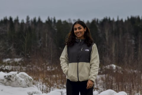 MOTIVERT: Pernille Torhaug Blikeng (18) blir motivert til å være fysisk aktiv når hun merker de store forbedringene i humør og helse når hun trener framfor når hun ikke trener.