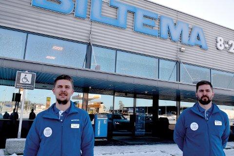 Fredrik Carlsson og Jan-Henrik Jordansen kan melde om jevnt trøkk av kunder på Slitu, dette til tross for at dørene er lukket.