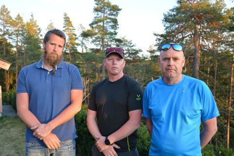 SUSPENDERT: Kjetil Johanson (t.v.), Bjørn Kristiansen og Remy Haugbro ble alle suspendert av IØBR, mistenkt for å stå bak trusselbrevene.