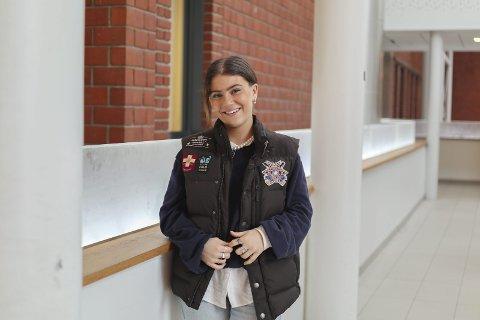 ELEVRÅDSLEDER: Noor Grøndal Elsness (18) er elevrådsleder på Mysen videregående skole.