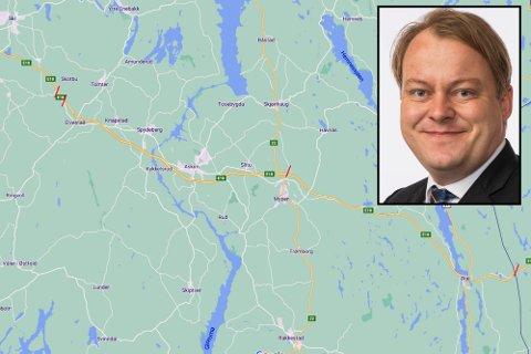 Stortingspolitiker Erland Wiborg sier at Fremskrittspartiets stortingsgruppe enstemmig går ut fra å satse på E18 og fjerne bommene som blir stående igjen.