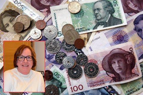 Om det ikke akkurat klinger av mynt eller flagrer av sedler i kassa, kan kommunalsjef Anne-Kari Grimsrud (innfelt) i Marker kommune slå i bordet med et sterkt resultat i koronaåret 2020.
