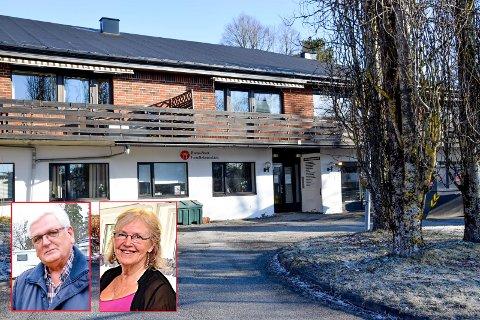 Frivillighetens hus har vært stengt i drøyt 13 måneder. Nils Tore Wilson og Marit Gorseth (innfelt), to av foreningslederne på huset, tror ikke det blir noen åpning før sommeren.
