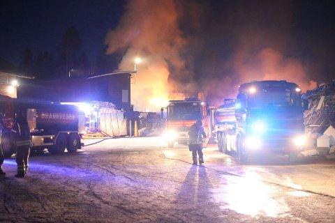 BRANN: Én bygning gikk tapt i nattens brann.
