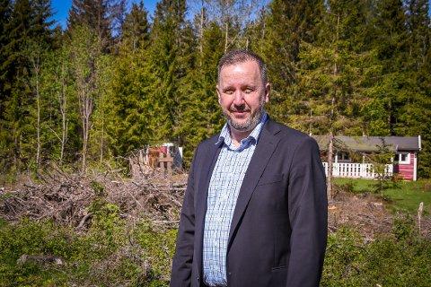 Rune Ørndal er eiendomsmegler i Eie og ansvarlig for salget av de fem prosjekterte eneboligene.