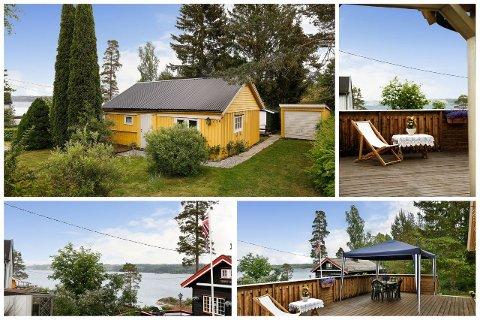 MØRKFOSS: Denne hytta ligger ved Mørkfoss, og koster akkurat én million kroner.