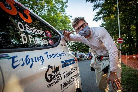 I LATVIA: Oscar Solberg, sønn av Henning Solberg, fikk muligheten til å kjøre EM-runden i Latvia takket være fetter Oliver Solberg, sønn av Petter Solberg. Og Oscar leverte!