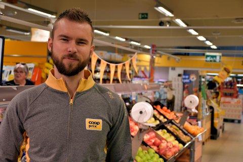 Butikksjef ved Coop Prix Snåsa, Kent Ove Gomo Hammer.