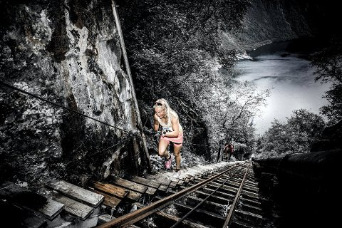 TØFF TEST: Malene Blikken Haukøy sprang trappene på 10 minutt og 44 sekund i fjor. (Foto: Arvid Fimreite)