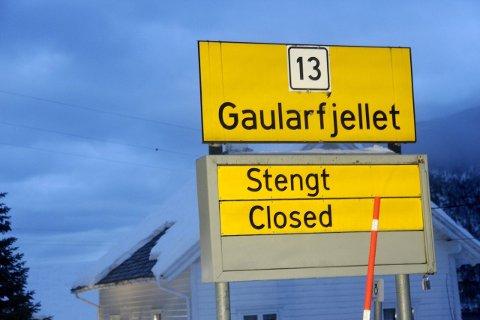 RAS: Vegen over Gaularfjellet er stengd på grunn av ras måndag morgon. (Arkivfoto)