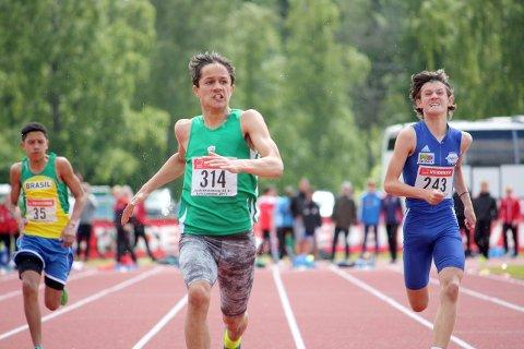 I FARTA: Knut Werge-Olsen frå Årdal sprang inn til ny personleg rekord på 100 meter i helga. Dette er tredje raskaste tid for 15-åringar i landet. (Arkivfoto: Olav Terum)